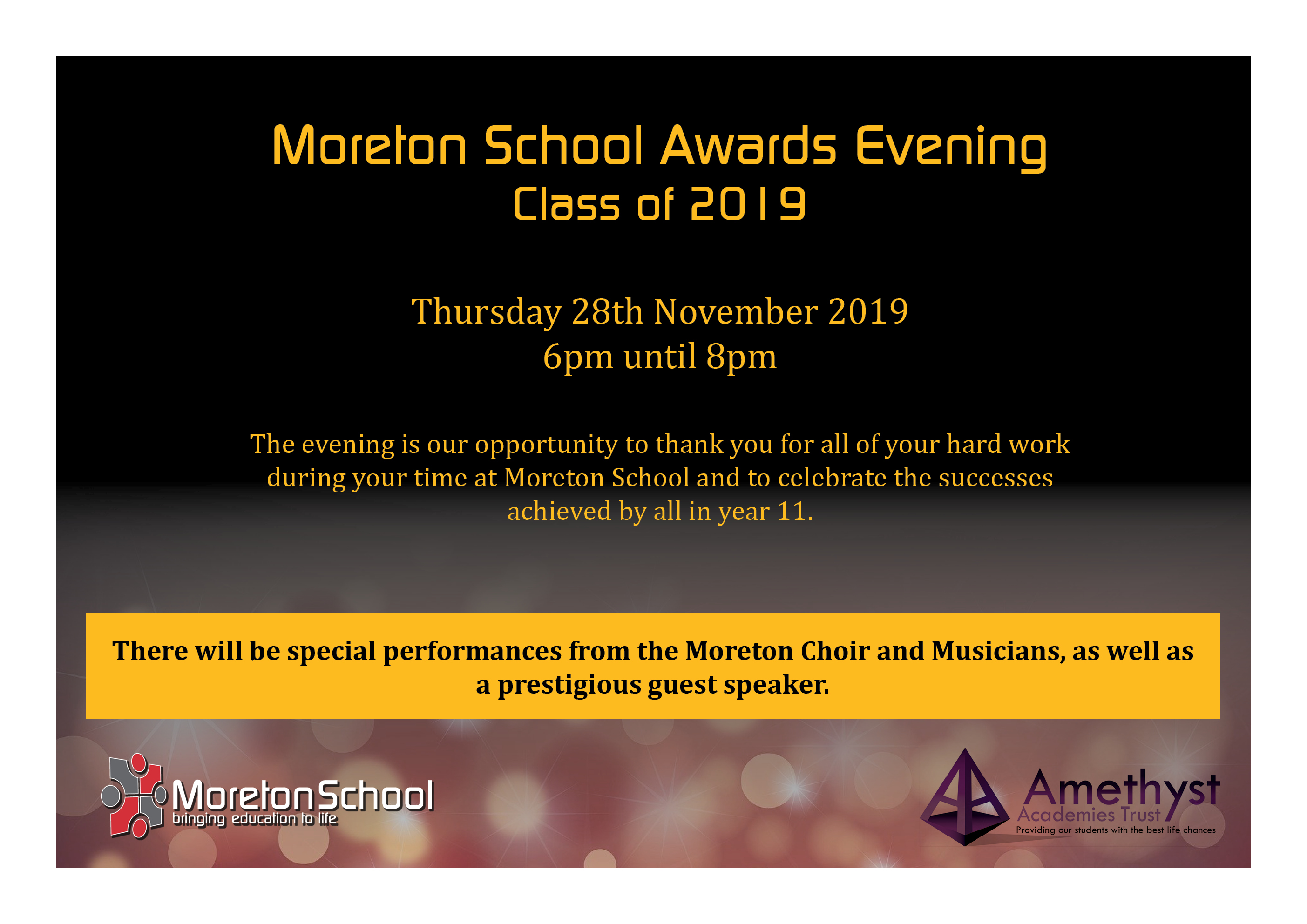 Moreton Year 11 Awards Wolverhampton