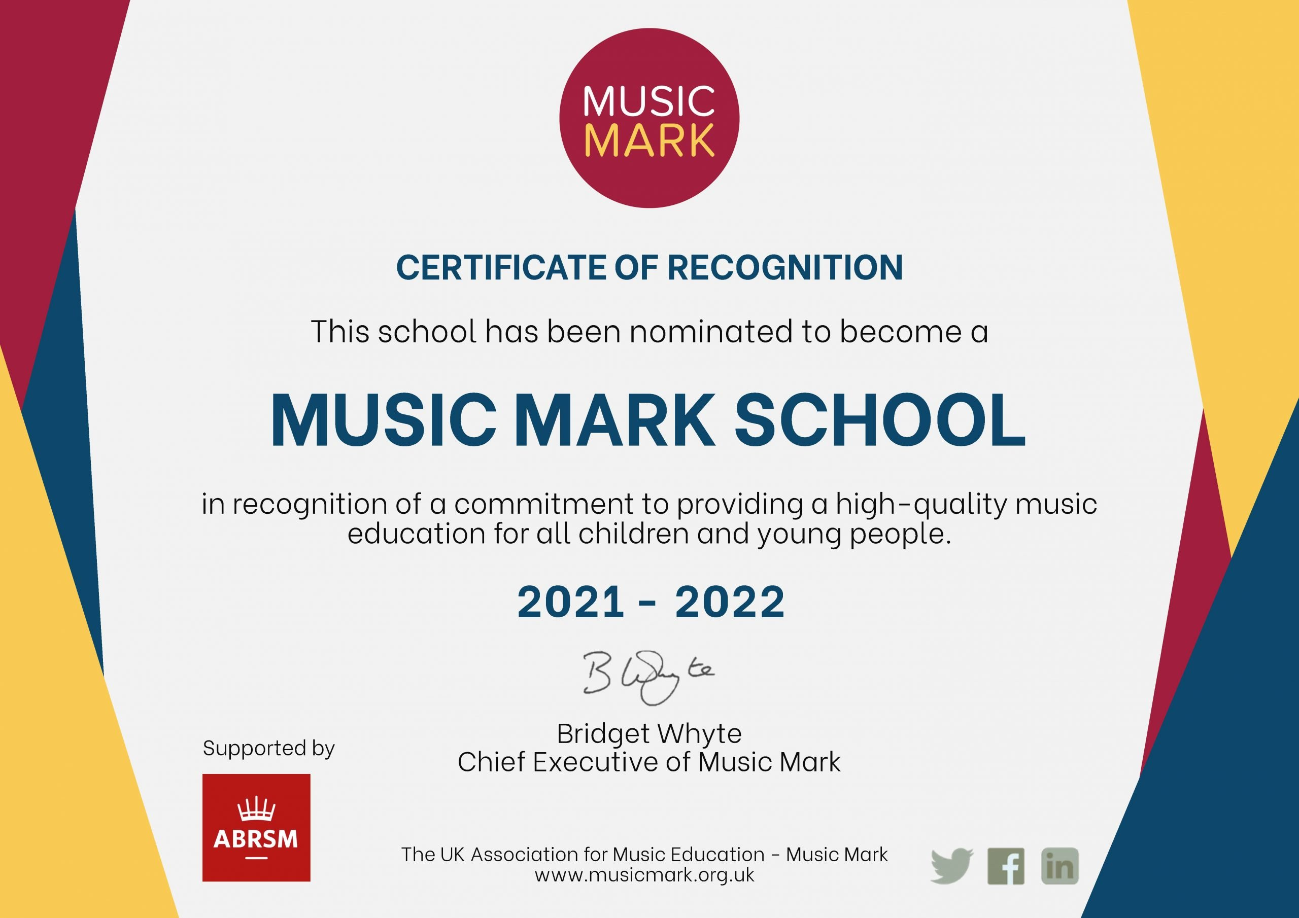 music marks schools